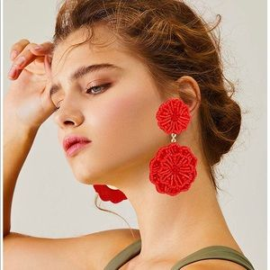 Red Gorgeous Must Have Statement Earrings ❤️✌️
